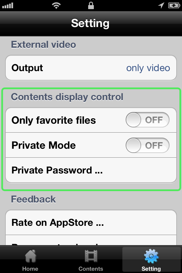 Contens Display Control