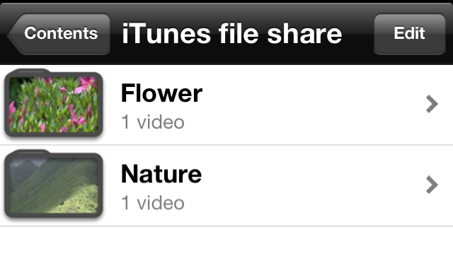 iTunes file share